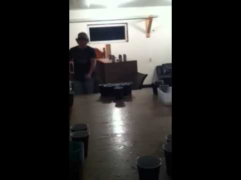 CRAZY BEER PONG TRICK SHOT!!