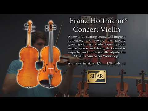 Video - Franz Hoffmann® Concert Deluxe Violin Outfit - 3/4 size | SH500WHD 34