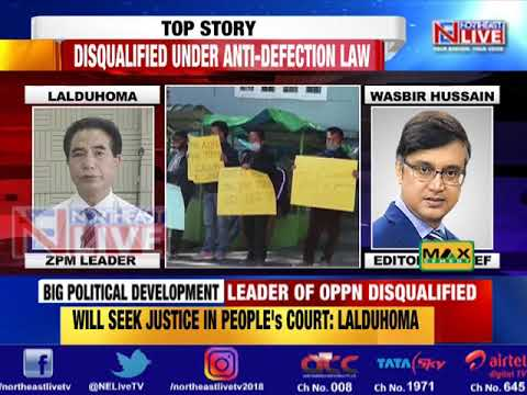 ZPM leader Lalduhoma disqualified from Mizoram Assembly