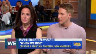 Dustin Lance Black and Mary-Louise Parker dish on 'When We Rise'