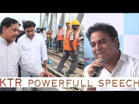 KTR Inspects Hyderabad Metro Rail Works