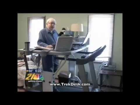 TrekDesk Treadmill Desk Features Multi-Tasker at Work on NBC