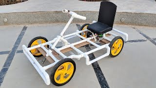 Video How to Make a Go kart / Electric car using PVC pipe at Home MP3, 3GP, MP4, WEBM, AVI, FLV September 2018
