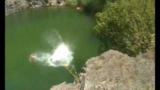 Tarcal Hungary  City pictures : Cliff jumping in Tarcal, Hungary 2010