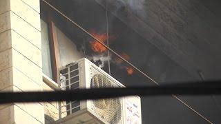 الدفاع المدني يسيطر على حريق إندلع في أحد المكاتب بالمدينة