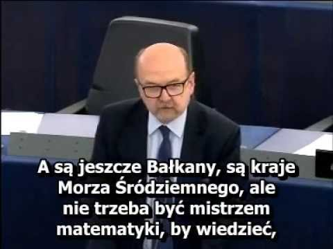 Ryszard Legutko podczas debaty o uchodźcach