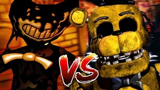 BENDY AND THE INK MACHINE VS FNAF ANIMATRONICS || Bendy and the Ink Machine GMOD (BATIM Garrys Mod)