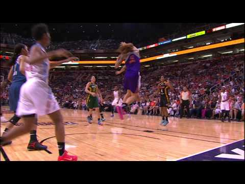 circus - Watch as Shoni Schimmel makes an unbelievable 360 circus shot over Brittney Griner!