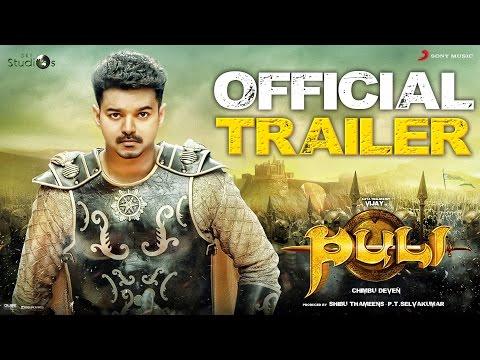 Video Puli - Official Trailer | Vijay, Sridevi, Sudeep, Shruti Haasan, Hansika Motwani download in MP3, 3GP, MP4, WEBM, AVI, FLV January 2017