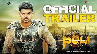 Nonton Puli   Official Trailer   Vijay  Sridevi  Sudeep  Shruti Haasan  Hansika Motwani Film Subtitle Indonesia Streaming Movie Download