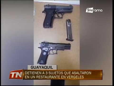 Detienen a 3 sujetos que asaltaron en un restaurante en Vergeles