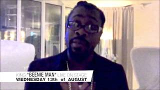 BEENIE MAN* LIVE ON STAGE  13.08.2014  CLUB LES AMIS (ZÜRICH)