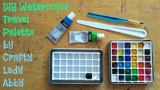 I enjoy traveling and bringing my watercolor on adventures. Recently, I took a beach day trip and painted a landscape. While I carry a big bag to hold my paint palettes, I realized it would be awesome to have a little palette that fits into my watercolor kit. In this video, I show you how to make your own little watercolor travel palette.Traveling with Watercolors video: https://youtu.be/9IOttxqdBkcThanks to Glue Dots for their Advanced Strength dispenser. Advanced Strength also comes in sheets, which might be faster to apply, but I can't verify their compatibility with this project.http://www.gluedots.com/index-consumer.htmlSOCIAL MEDIA:Website: http://www.craftyladyabby.comFacebook: https://twitter.com/CraftyLadyAbbyTwitter: https://www.facebook.com/CraftyLadyAbbyPinterest: https://www.pinterest.com/CraftyLadyAbbyInstagram: https://instagram.com/craftyladyabby