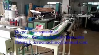 Automático de tejidos Papel higiénico Rollo de embalaje en la conversión de la línea de corte