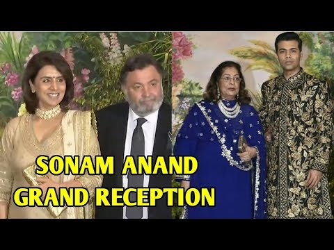 Rishi Kapoor And Karan Johar Arrive At Sonam Kapoo