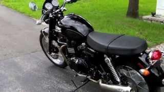 7. 2010 Triumph Bonneville T-100 Black at Euro Cycles of Tampa Bay