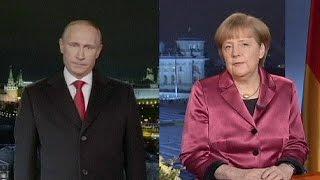 Putin e Merkel lembram Ucrânia no fecho de 2014