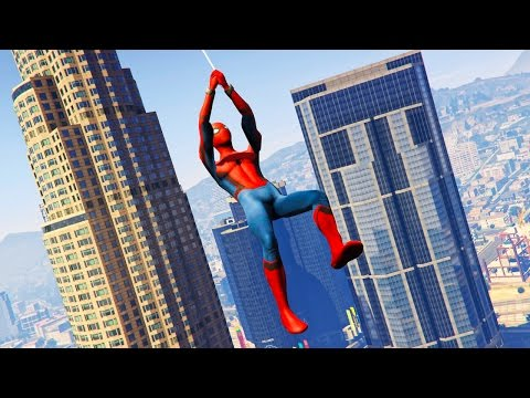 NEW SPIDERMAN MOD in GTA 5! (GTA 5 Mods) (видео)