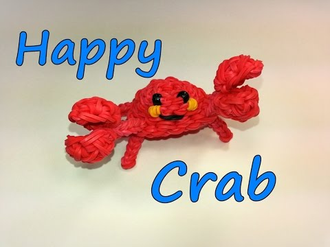 3-D Happy Crab Tutorial by feelinspiffy (Rainbow Loom)