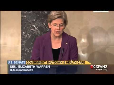 Elizabeth Warren - Sen. Warren's remarks on the Senate floor on September 30, 2013.