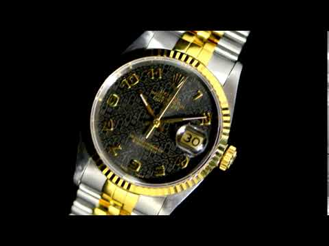 Men's 18k Yellow Gold/Stainless Steel Rolex Datejust Automatic Wristwatch ($5600)