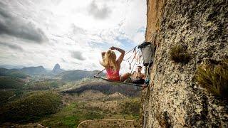 Sasha DiGiulian rock climbing big walls in Brazil by Sasha DiGiulian