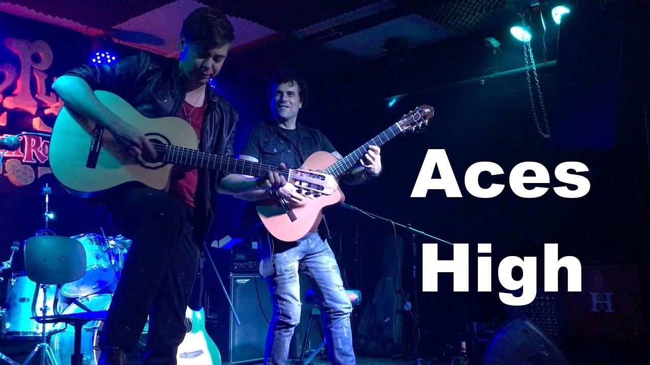 Aces High (Iron Maiden) Acoustic – 2 Spanish Guitars – Thomas Zwijsen & Ben Woods