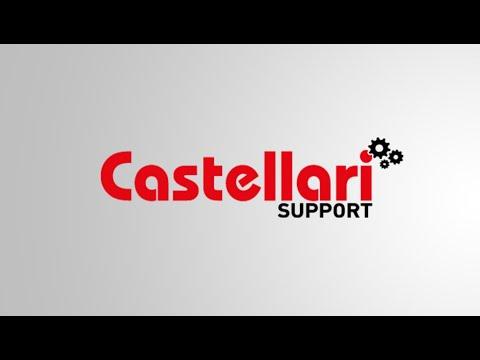 CASTELLARI, forbice professionale a doppia lama - B12 - non fa un taglio netto