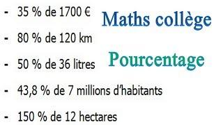 Maths 6ème - Le pourcentage Exercice 2