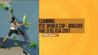 Upcoming Event Trailer - IFSC Climbing World Cup Vail 2017 - BOULDERING by International Federation of Sport Climbing
