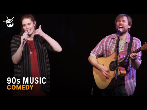 AZ - Comedians Al Newstead and Anna O'Bryan play an epic medley of 60 '90s hits in just six minute at triple j's Good Az Friday comedy show at the Melbourne Town ...