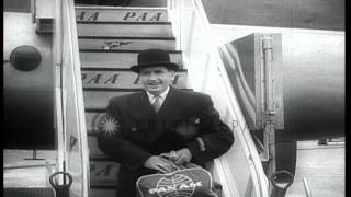 Bedford (IN) United States  city pictures gallery : James Boyd, personal butler to the Duke of Bedford, arrives United States. HD Stock Footage