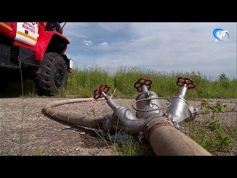 Тренировку «с огоньком» провели новгородские спасатели, лесники, медики и полицейские