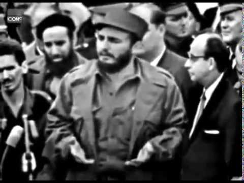 Kuba: Fidel Castro speaks English after visit to Unit ...