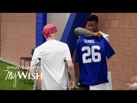 Video: Saquon Barkley grants 14-year old Giants fan's 'My Wish' | SportsCenter