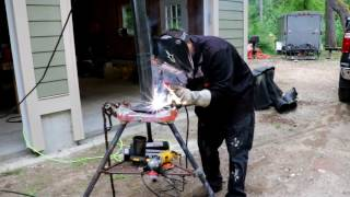 "Building a Protective bollard for water heater!! I bought the material and build the protective yellow pole ""bollard"" for my brothers water heater in this video.I used 3"" pipe cut to 3'6"" long3/8"" plate cut to a 8"" by 8"" squareUsed some 7018 welding rodAnd some yellow paint,ToolsDewalt grinder,Lincoln Electric power mig 140 welder,And a Ridgid three leg marry,"
