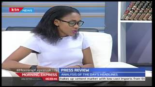 Morning Express KTN News paper Review August 31, 2016  by Joy Doreen Biira