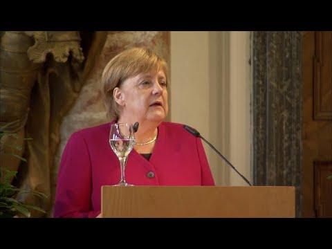 Merkels Plädoyer für internationale Zusammenarbeit un ...