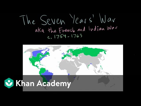 The Seven Years War Background And Combatants Video Khan Academy
