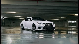 A Behind the Scenes look at our shoot with my white RC F. It started to pour so we were fortunate to be in a parking deck. It features a APEXi Race Exhaust, Coilovers and Intake wrapped in Nitto Invo Tires. Wheels are our new hybrid forged Vossen VFS/4. Specs- 20x9.5 mid concave and 20x10.5 deep concaveNitto Invo 255/30/20 and 285/30/20 Full Vossen Video with Soundhttps://www.youtube.com/watch?v=JkUp_-Zts_E