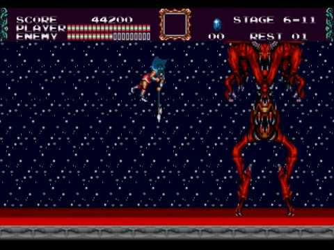 Castlevania Bloodlines Final Boss (Eric) Dracula - No Damage, No Subweapons, No Power Up
