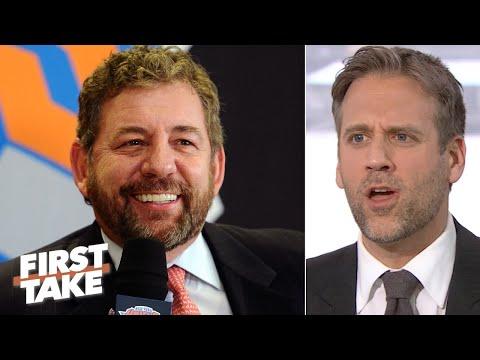 Max Kellerman reacts to James Dolan saying he won't sell the Knicks | First Take