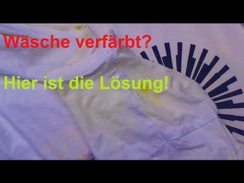 Verfärbte Wäsche mit Geschirrspültabs entfärben /  Hausmittel Entfärber - DIY