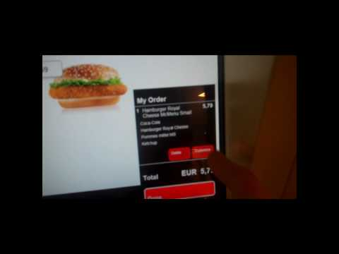 McDonalds Easy Order machine inside Frankfurt Airport, Germany