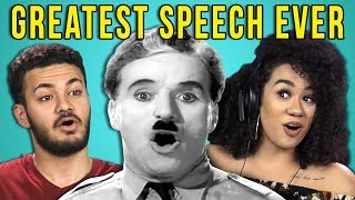 Video College Kids React To The Greatest Speech Ever Made (The Great Dictator) MP3, 3GP, MP4, WEBM, AVI, FLV April 2018
