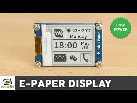 Arduino E-Paper Display Review ( Waveshare 1.54
