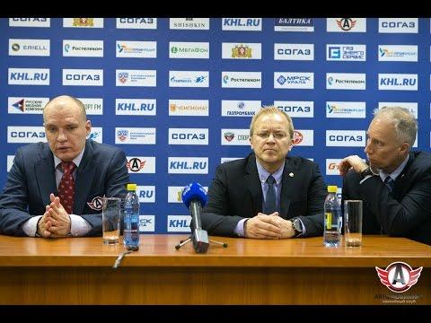 """Пресс-конференция - """"Автомобилист"""" 3:4 (Б) """"Йокерит"""" (14.11.15)"""