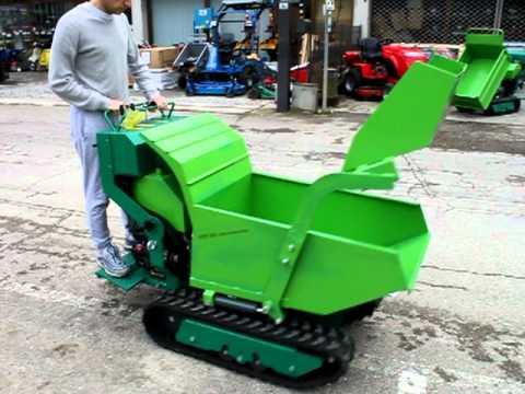 Transporter AXO minidumper idraulico con pala autocaricante dumper (видео)