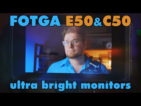 ultra bright and ultra packed! the Fotga E50 and C50 field monitors   REVIEW
