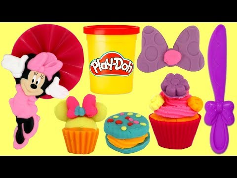 Play doh - Play-doh Creations: MINNIE MOUSE TREATS Make Your Own Cupcake, Cookie with Friends